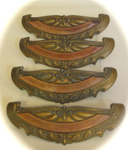 12 1920u0027s art deco waterfall bakelite antique drawer pulls original screws