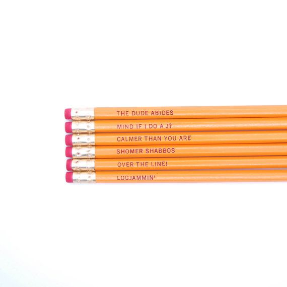 The Big Lebowski Pencils by oneupdesigns on Etsy