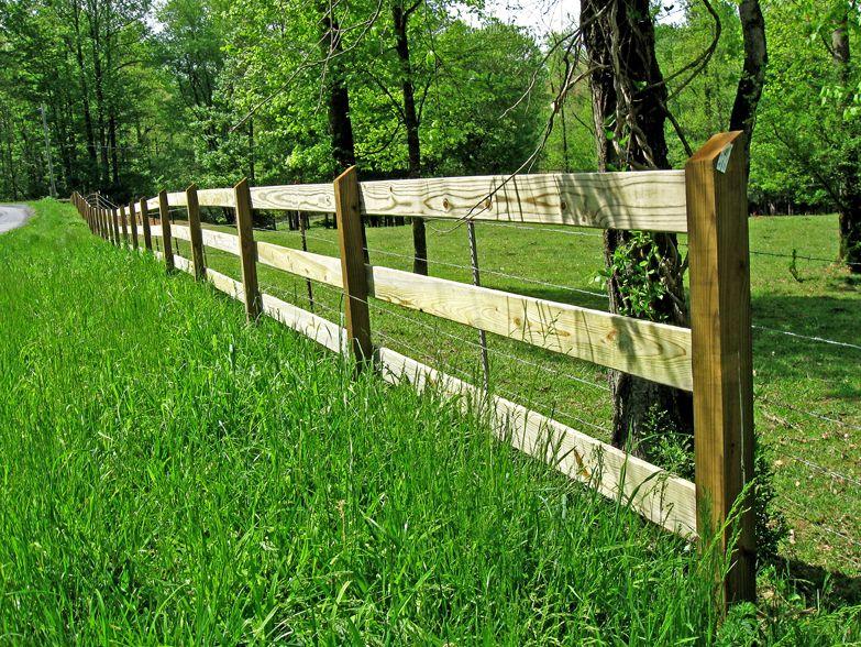 1x6 And 4x4 Post And Rail Fence Yard Pinterest Rail