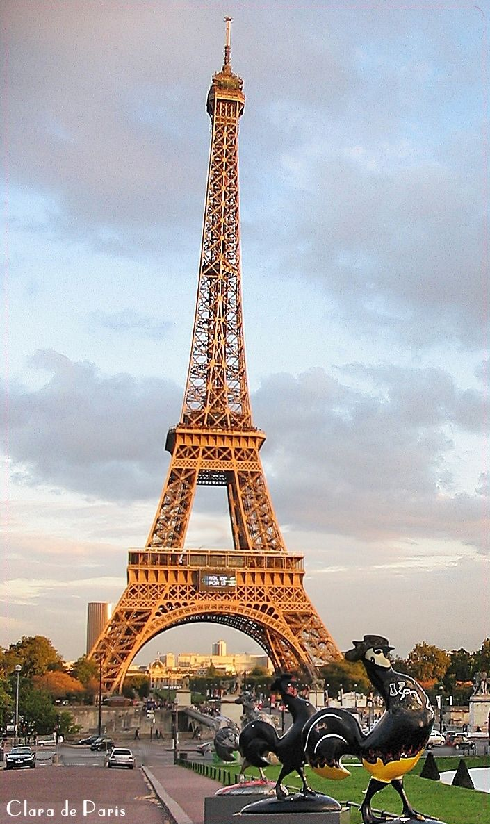 Eiffel Tower - taken from the 16th arr. by claradeparis.com