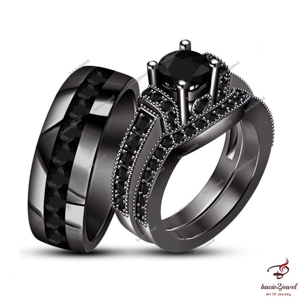 33++ Non diamond wedding rings black ideas in 2021
