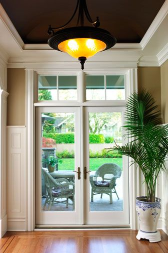 Exterior Doors With Large Transom Over... Made By Simpson Door