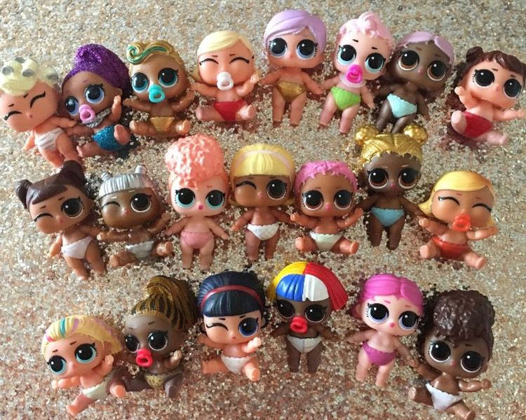 10Pcs LOL Surprise Doll Lil Sisters cute girl baby figure toys Kids Grils Gifts