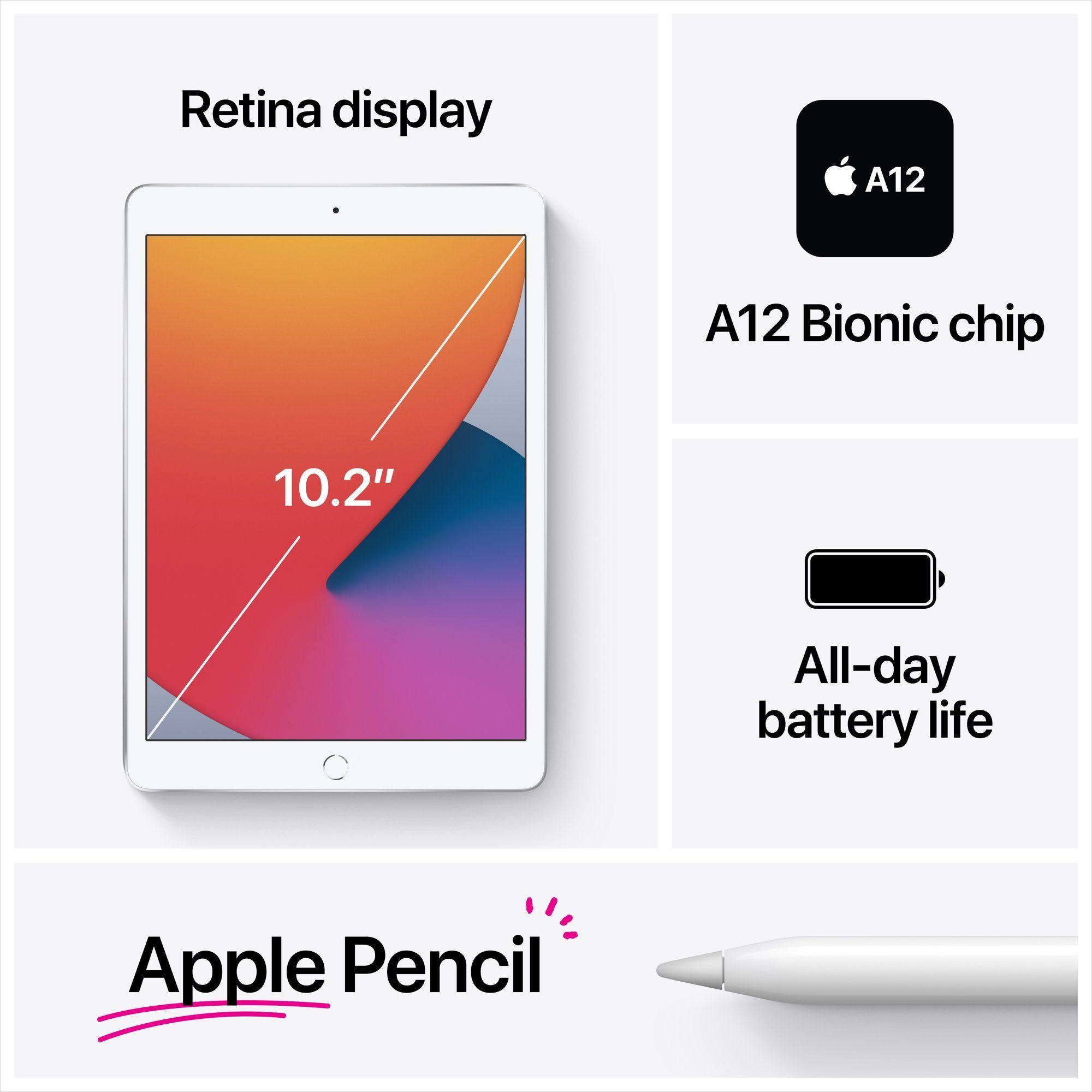 Apple 10 2 Inch Ipad 8th Gen Wi Fi 32gb Space Gray Walmart Com Apple Ipad New Apple Ipad Ipad Features