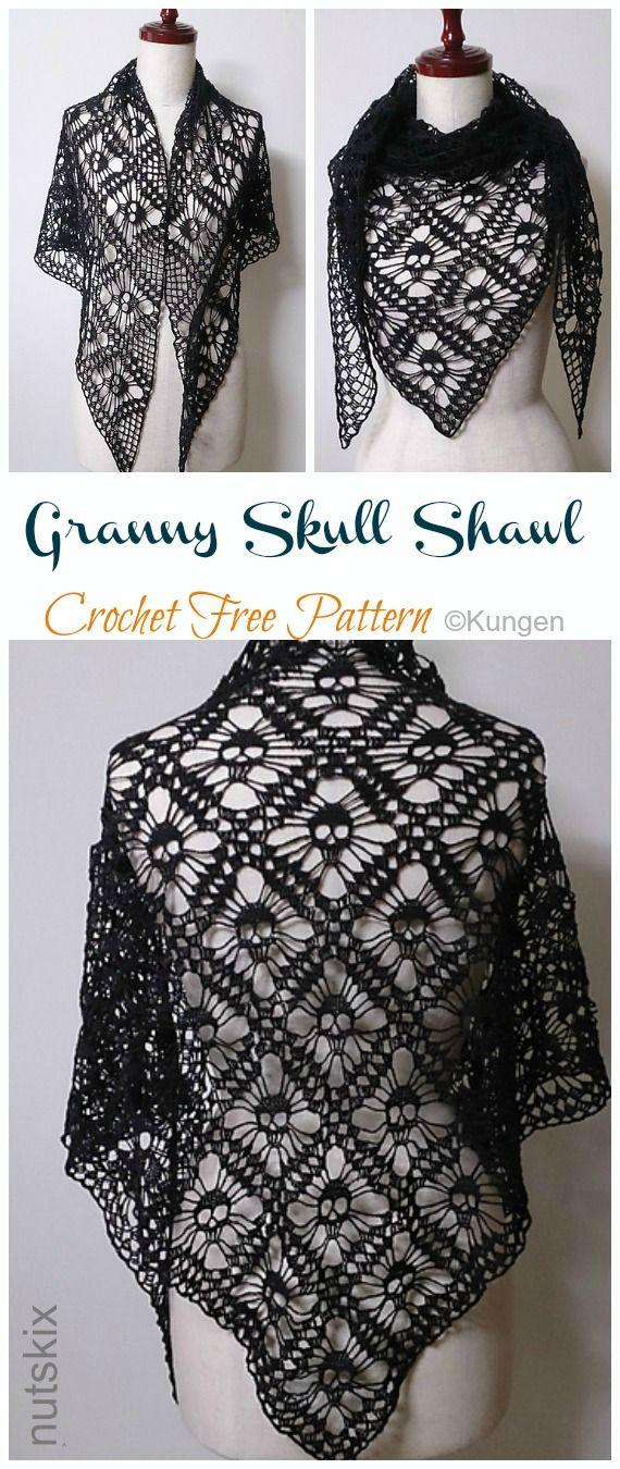 Photo of Granny Skull Shawl Crochet Free Pattern – Crochet & Knitting