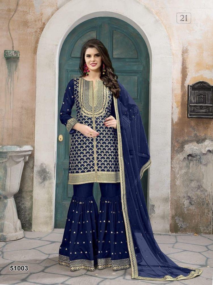 fb7a665caeb2 Indian Pakistani Wedding Dress Sharara Kameez bollywood party wear Designer  Suit | eBay