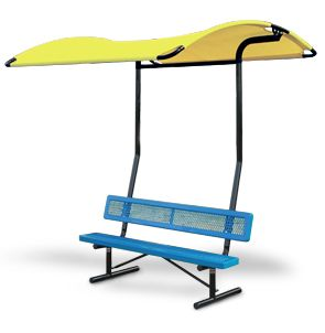 Mini Shade Structure Bench Attachment Bench Sold