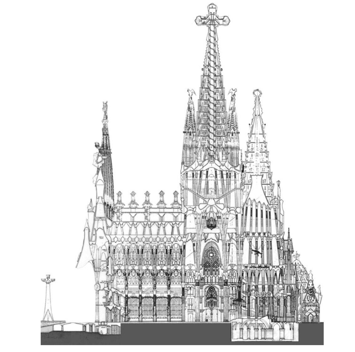sagrada familia architectural drawings