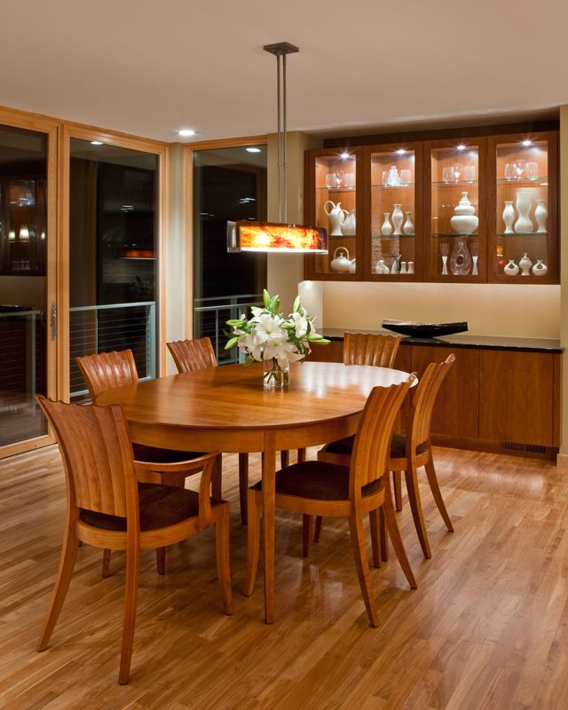 Charles Stinson Architect Laurie Plattes Interior Design Dining Room,  Thomas Moser Table And Chairs Eva
