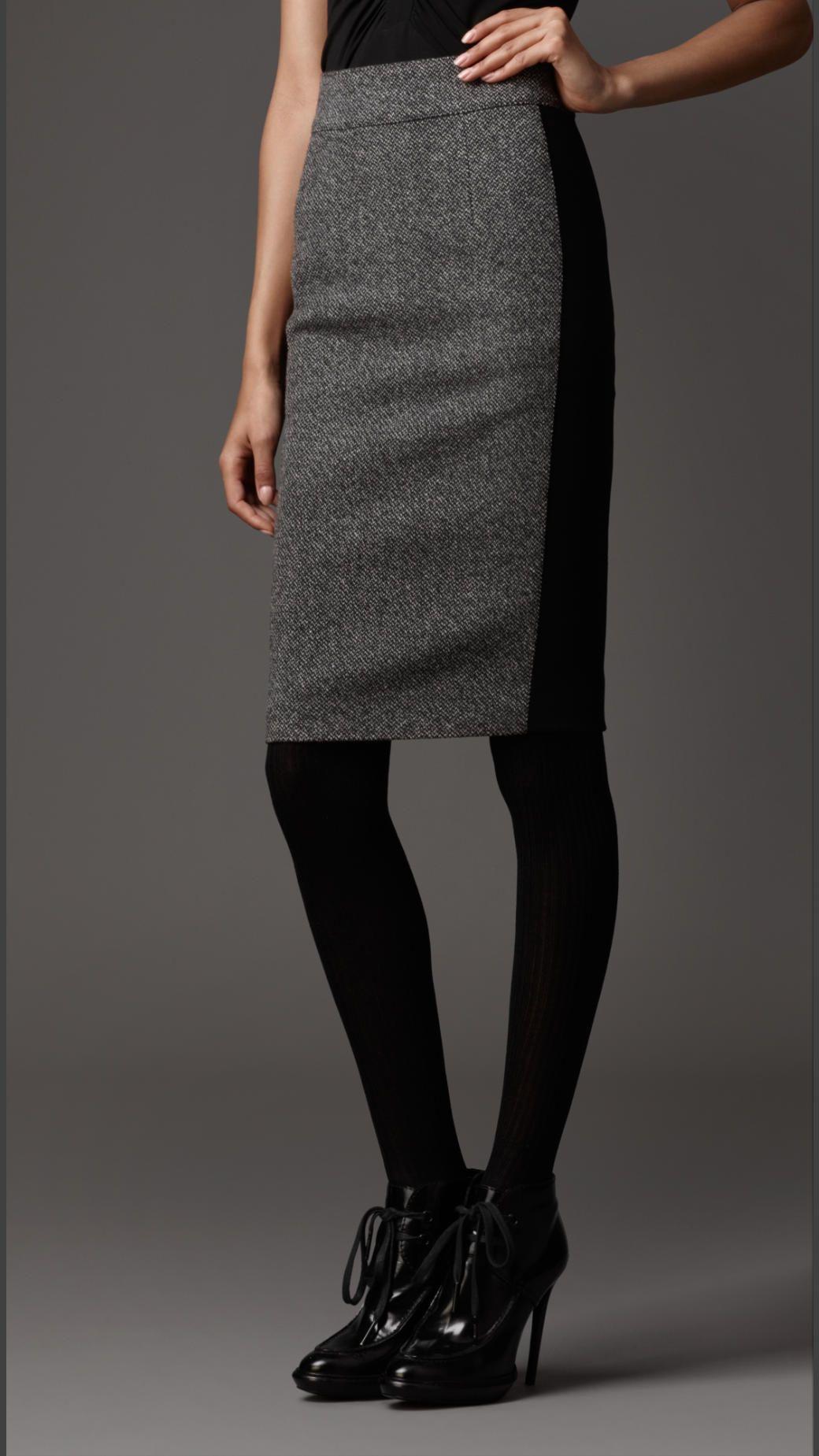Wool Pencil Skirt | Burberry