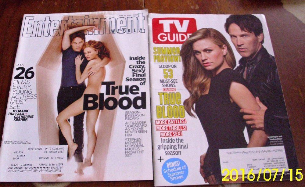 TRUE BLOOD MAGAZINES Alexander Skarsgard Stephen Moyer Anna Paquin Free US shipn #TVGUIDE