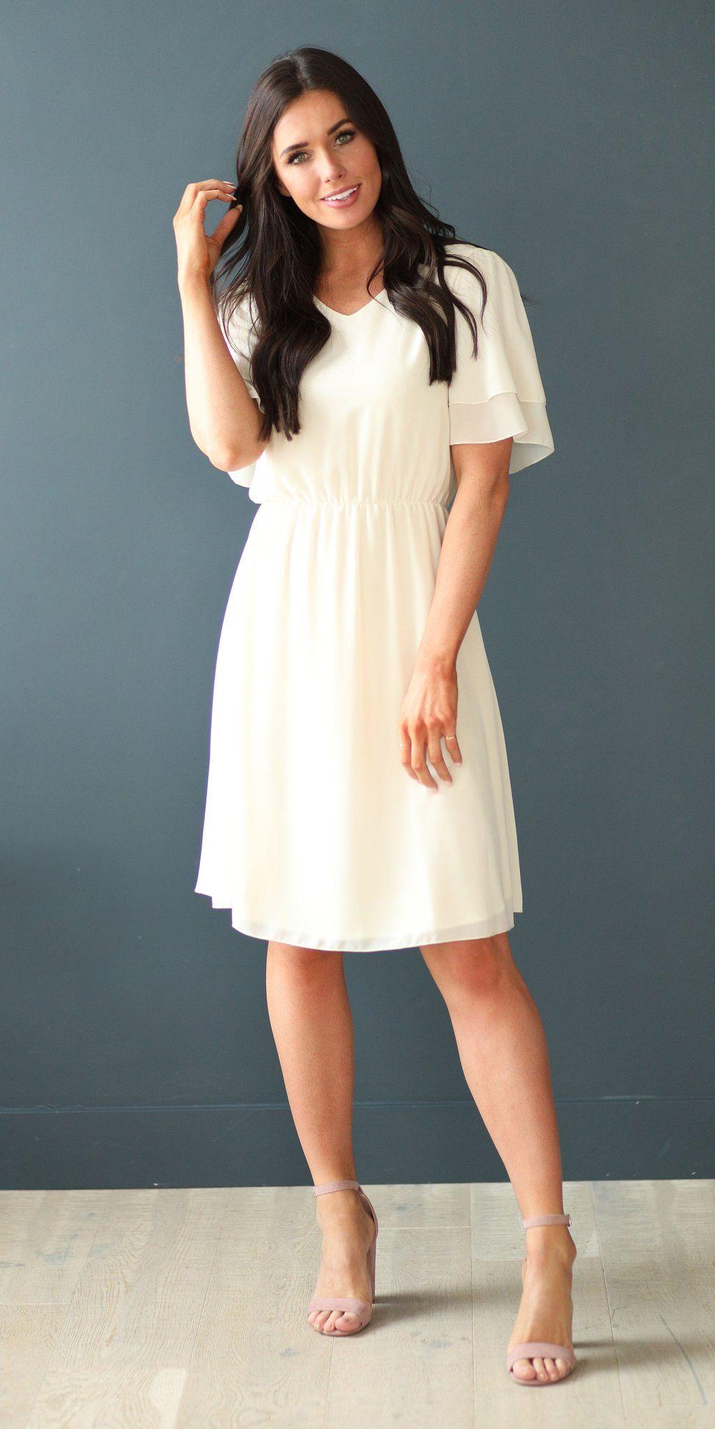 modest casual knee length dresses