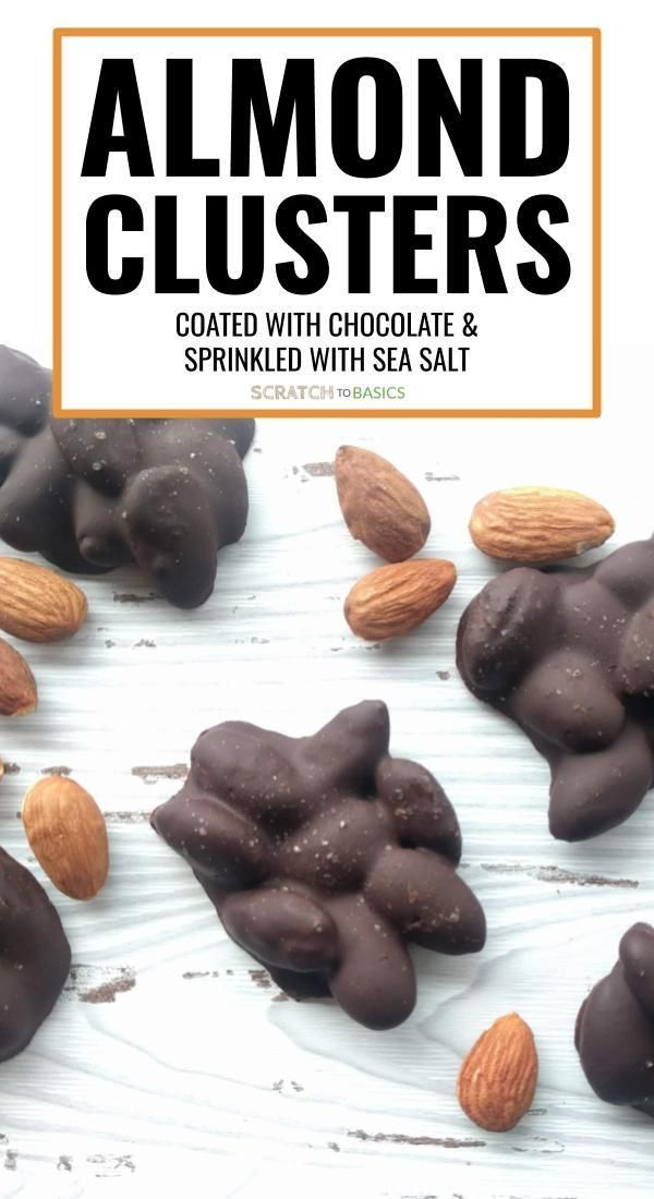 Easy Dark Chocolate Covered Almond Clusters Sprinkled With Sea Salt