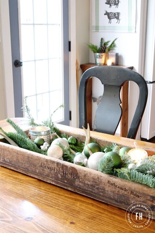 Farmhouse Christmas Decorating Home Tour Christmas Pinterest Extraordinary Decorating With Old Wooden Boxes