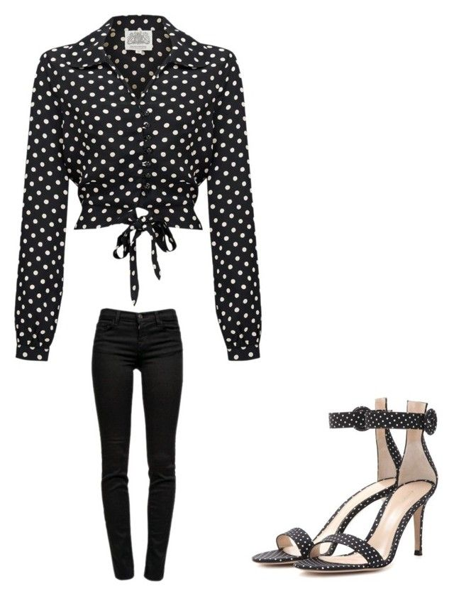 """"""""""" by melodyleighmitchell on Polyvore featuring J Brand and Gianvito Rossi"""