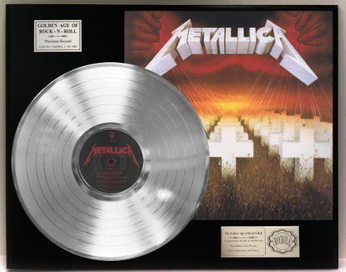 Metallica Quot Master Of Puppets Quot Platinum Lp Record Ltd