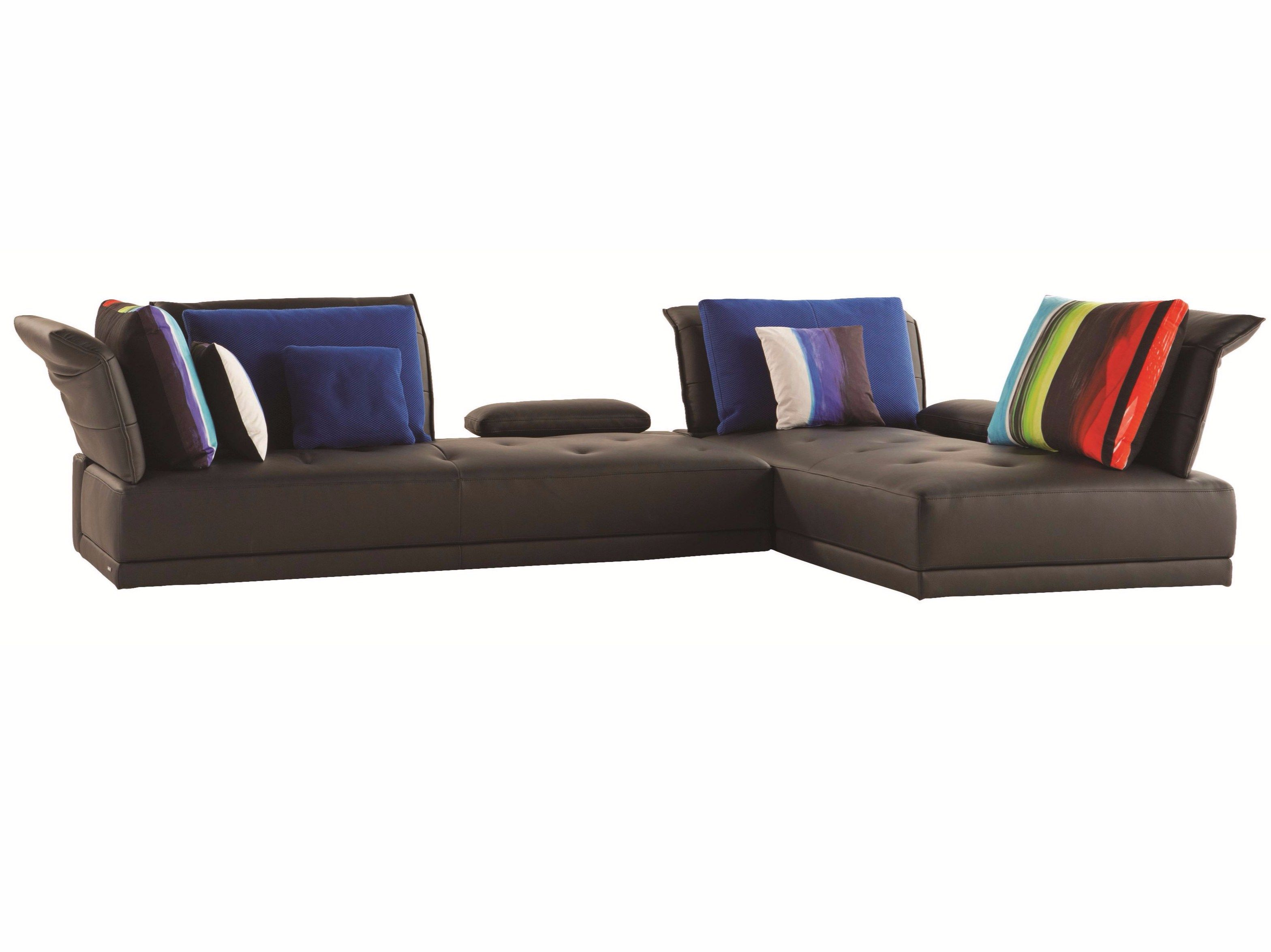 Sectional Leather Sofa Verbatim By Roche Bobois Furniture Sit  # Canape Cinema Roche Bobois