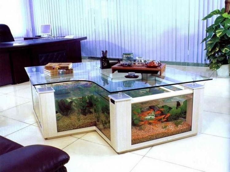Pin On Livingroom Designs Living room table fish tank