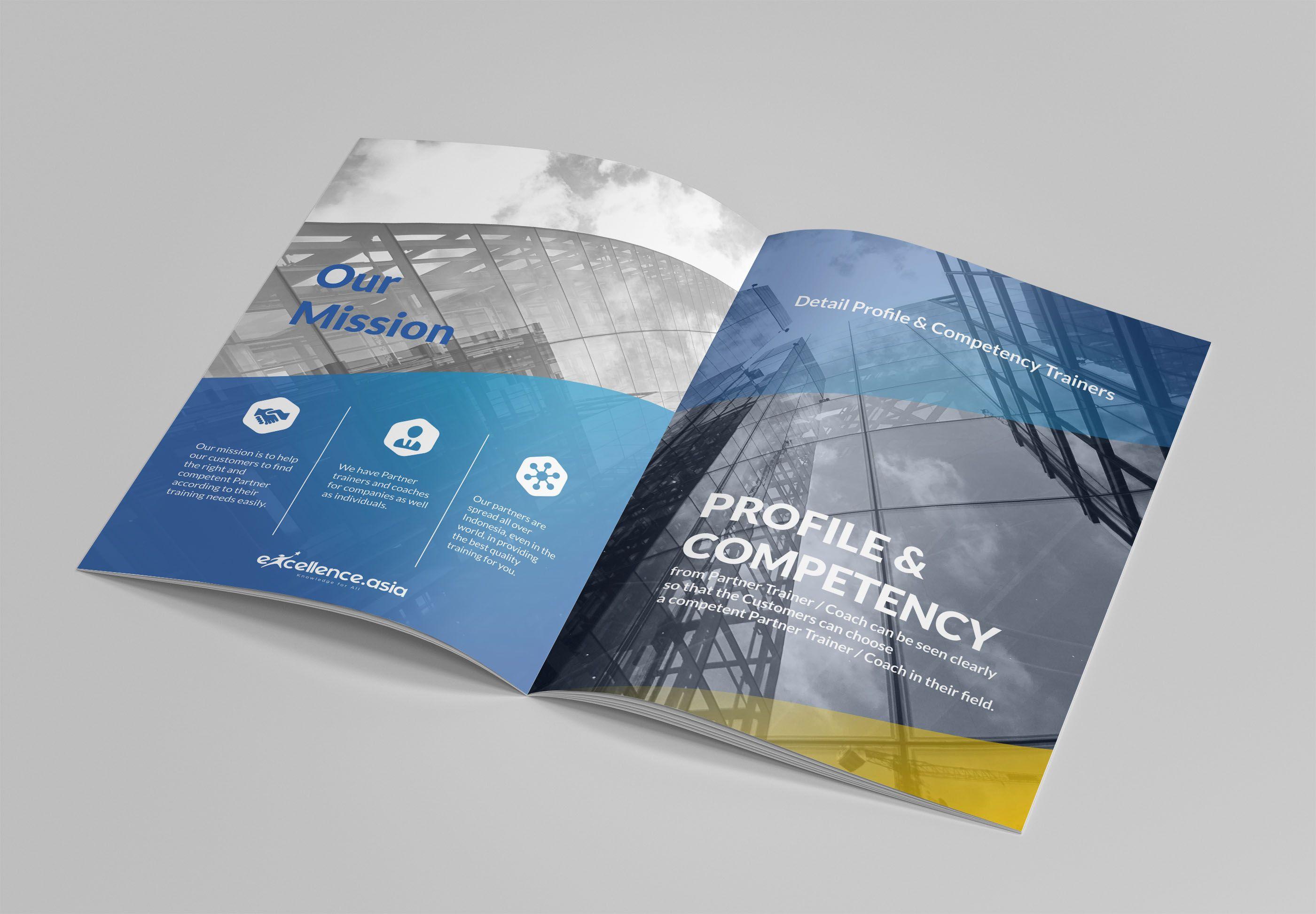 Bi Fold Business Magazine In 2020 Company Profile Template Company Profile Design Company Profile