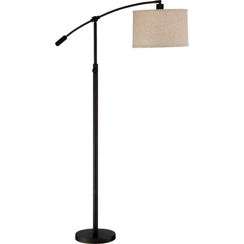 Quoizel cft9364 clift 1 light 65 tall boom arm floor lamp with quoizel cft9364 clift 1 light 65 tall boom arm floor lamp with linen fabric sha mozeypictures Images