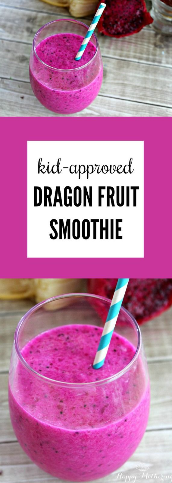 Exotic Kid-Approved Dragon Fruit Smoothie - Happy Mothering