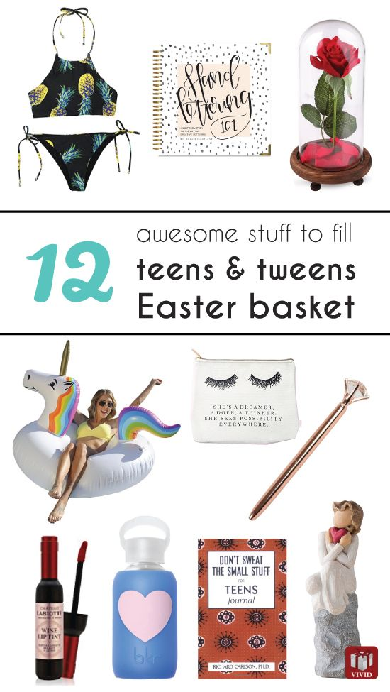 12 unique easter basket ideas for teen and tween girls basket easter basket ideas for teens daughter easter gifts for tweens negle Images