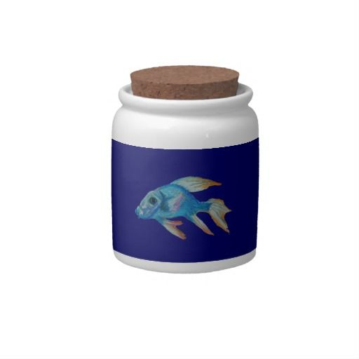 colourful fish candy jar