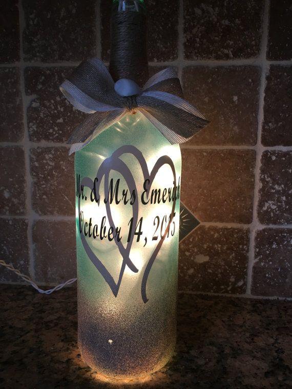 Caribbean Beach Wedding wine bottle light от BERKSWINEDESIGN