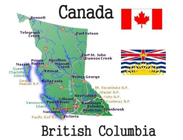 Britishcolumbiamap British Columbia Columbia And British - Highway of tears canada map