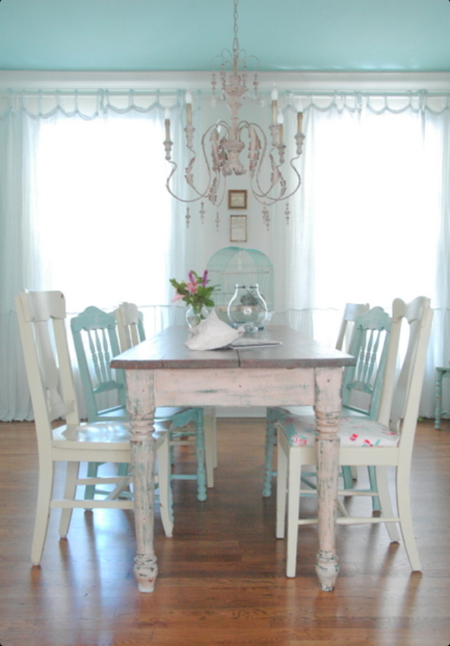 Dining Area ~ Cottagestyle  Dining Areas  Pinterest  Cottage New Shabby Chic Dining Room Decorating Design