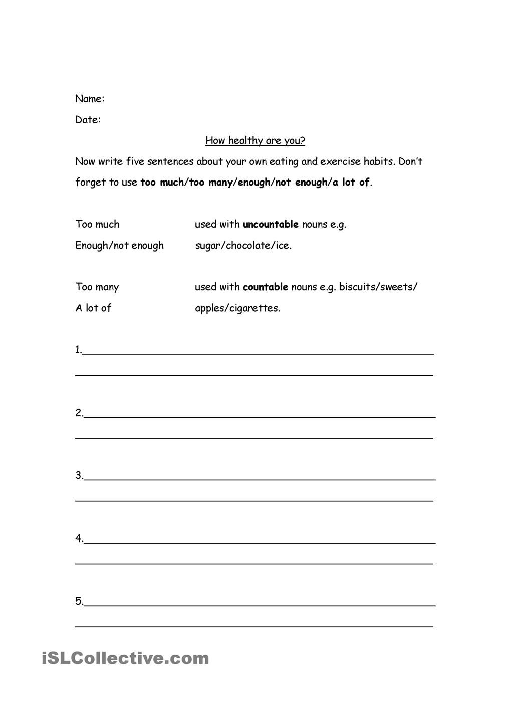 worksheet Healthy Eating Worksheets healthy eating and quantifiers ingles pinterest worksheets quantifiers