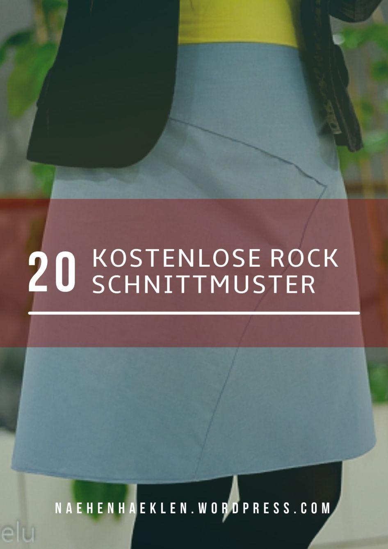 20kostenloserock.jpg | Schnittmuster | Pinterest | Nähen, Rock und ...