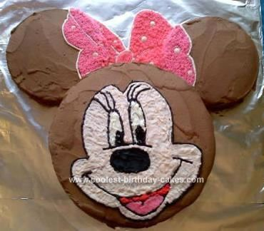 Swell Cool Homemade Minnie Mouse 1St Birthday Cake Minnie Mouse 1St Funny Birthday Cards Online Alyptdamsfinfo