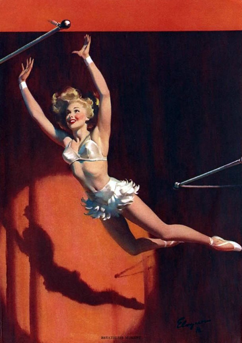 By Gil Elvgren---omg this pin-up is hilarious!!!