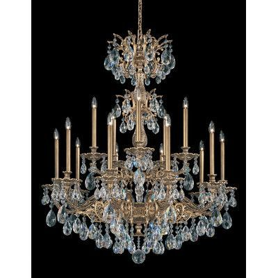 Schonbek milano 15 light crystal chandelier finish roman silver schonbek milano 15 light crystal chandelier finish roman silver crystal color strass golden mozeypictures Gallery