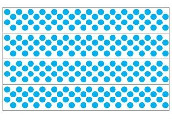 picture about Printable Bulletin Board Borders titled White and Blue Polka Dot Borders Bulletin Board Plans