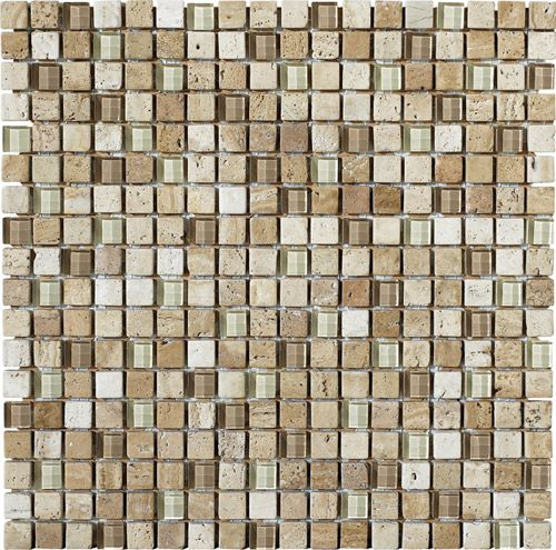 This natural stone is a beautiful addition to any backsplash or shower with its rich earthtones and mid-tone color variation. LFS Medley-Stone 11LR samples available in store