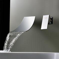 Sprinkle Wasserfall Verbreiteten Zeitgenossischen Waschbecken
