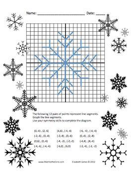 Super fun Snowflake Graph and Symmetry Activity Freebie | ☆FREE ...