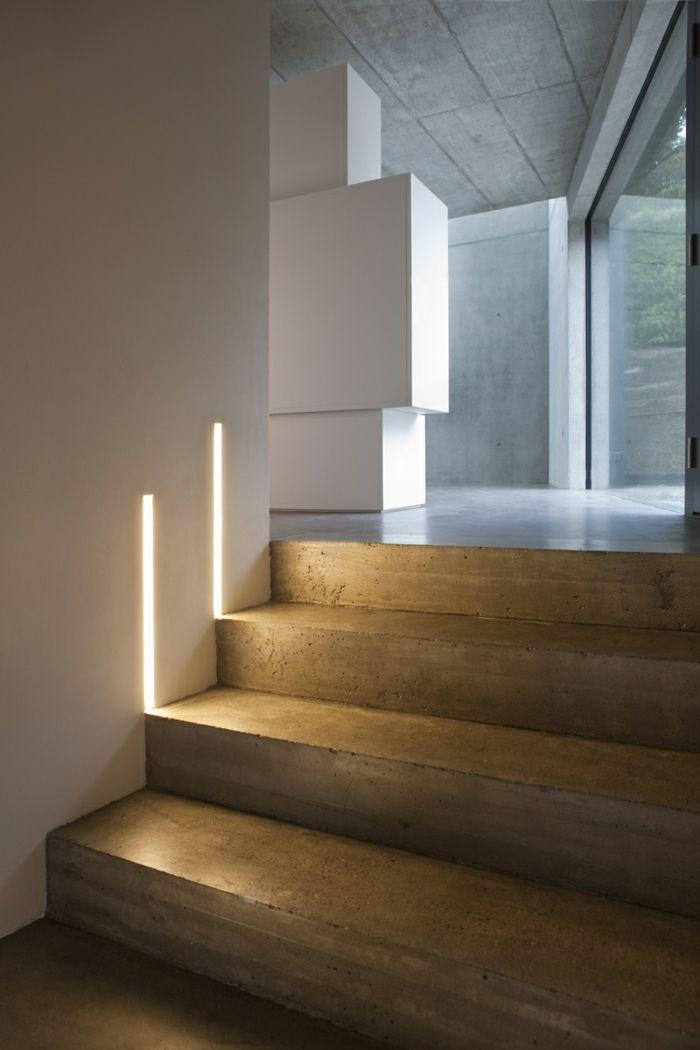 treppenbeleuchtung ideen innentreppe led leuchten | Innendesign ...