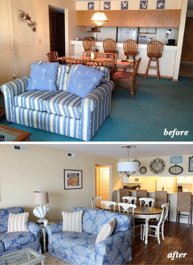 Condo Living Room Decorating Ideas: Topsail Beach Condo Renovation
