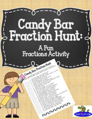 Candy Bar Fraction Hunt - A Fun Fraction Activity from happyedug8r ...