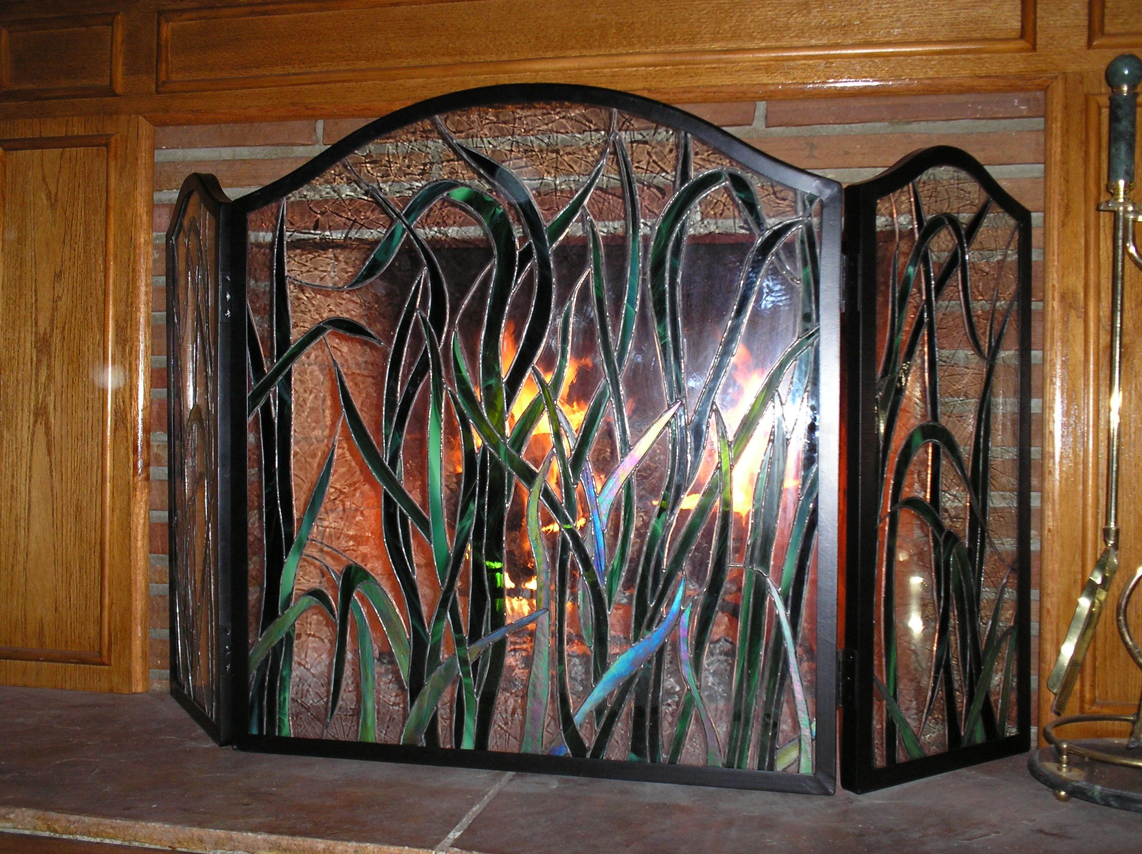 Stained Glass Fireplace Screen Glass Fireplace Stained Glass