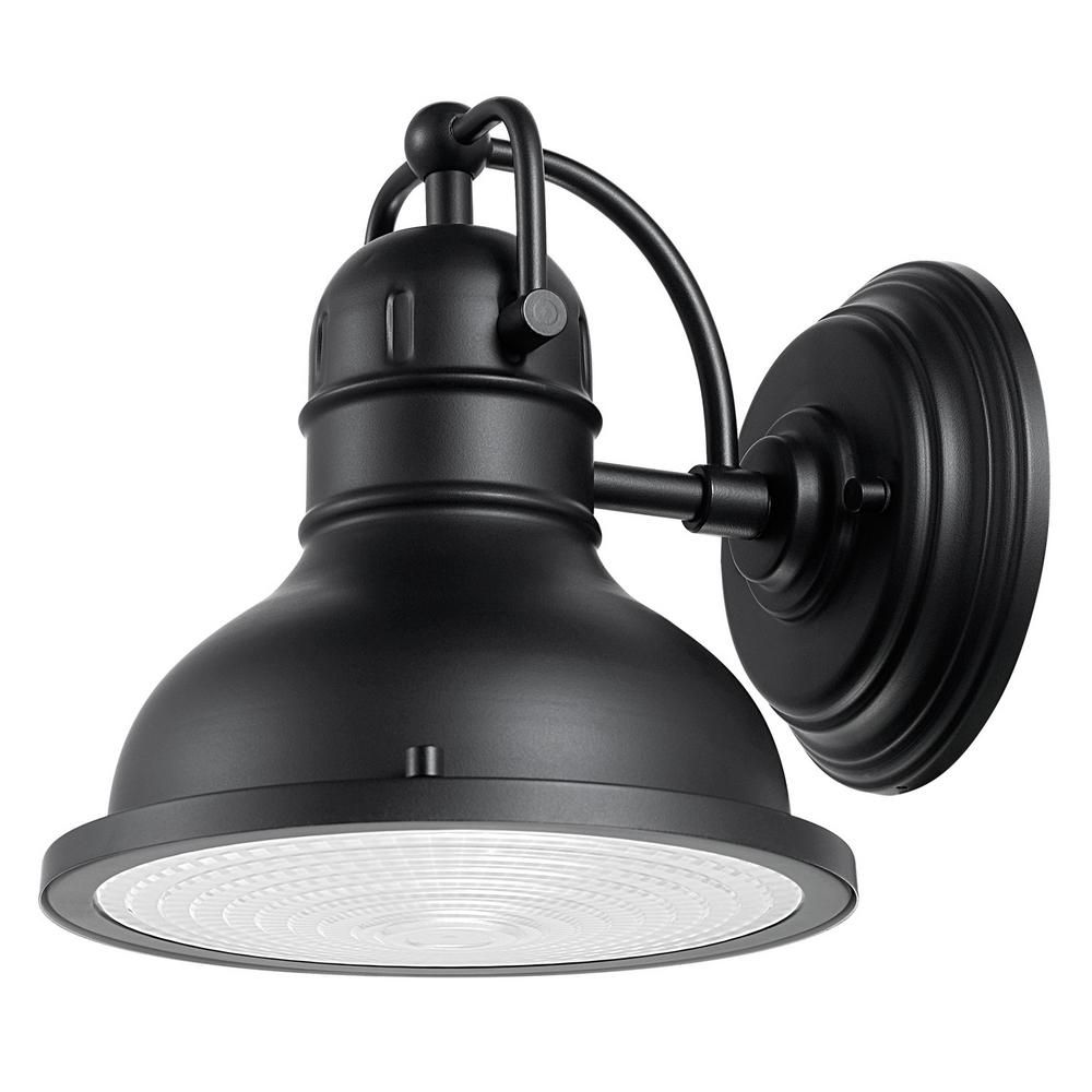 Globe Electric Harbor 1 Light Black Outdoor Wall Sconce Exterior