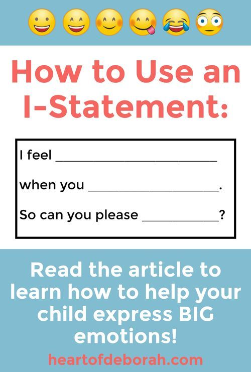 Express BIG Feelings With IStatements for Kids! Powerful Tool for Parents is part of Social skills for kids, I am statements, Social emotional learning, Social skills, Emotional intelligence, Emotions - Does your child have BIG emotions  Here is a specific strategy for how to help kids express big feelings  Use these istatements for kids