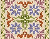 country floral - another biscornu design