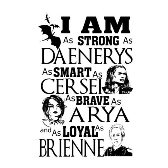 Game Of Thrones Women Tshirt Design Svg Women I Am
