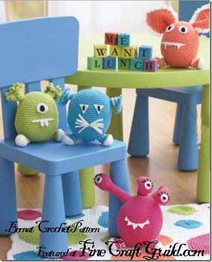 Wanna Make A Amigurumi Monster Animal Bernat Free Crochet Patterns