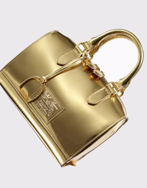 966a1963a1 Ralph Lauren gold handbag