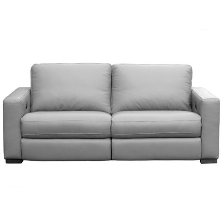 Signature 2 5 Seat Sofa With Electric Recliners Lucia Silver Grey